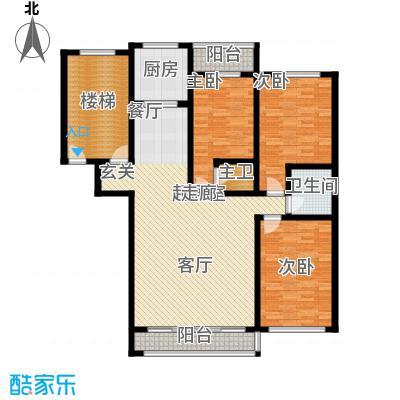 学府世家145.46㎡学府世家3室户型3室