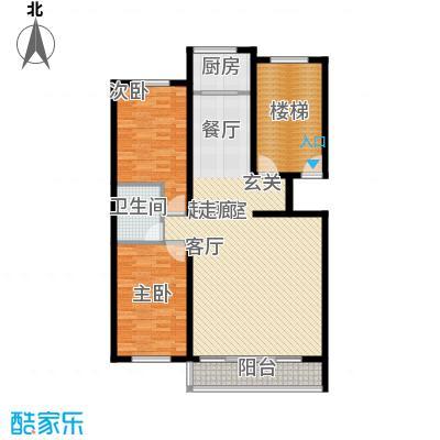 学府世家114.41㎡学府世家2室户型2室