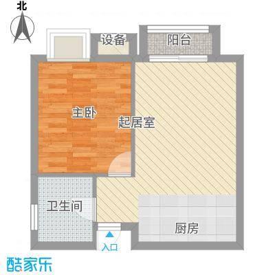 海德公园50.00㎡海德公园户型图K21室1厅1卫户型1室1厅1卫