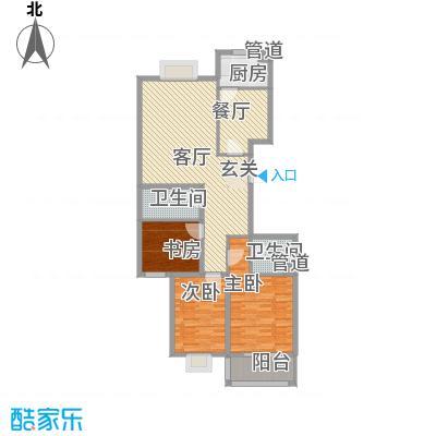郦苑国际花园二期141.62㎡三室两厅两卫141.62户型3室2厅2卫1厨