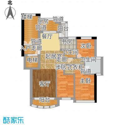 尊尚海的GOLF80.00㎡C户型2室1厅1卫1厨