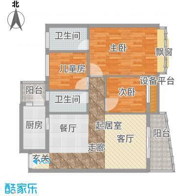 东田丽园五期100.00㎡东田丽园五期3室户型3室
