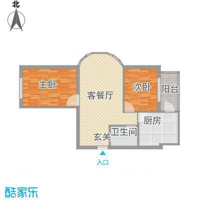 福泰名苑60.84㎡福泰名苑户型图2室1厅户型10室