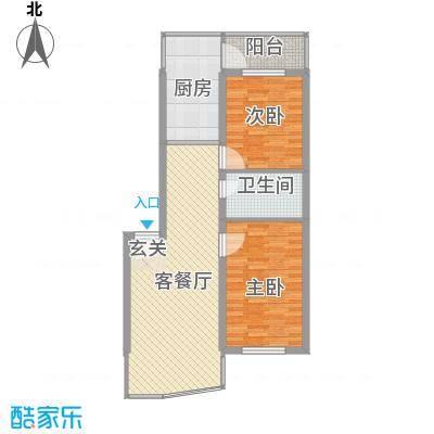 福泰名苑65.97㎡福泰名苑户型图2室1厅户型10室