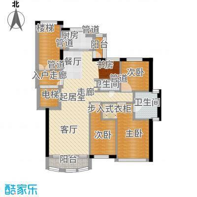 尊尚海的GOLF75.00㎡B户型2室1厅1卫1厨