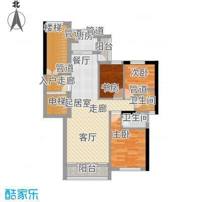 尊尚海的GOLF77.00㎡D户型2室2厅1卫1厨