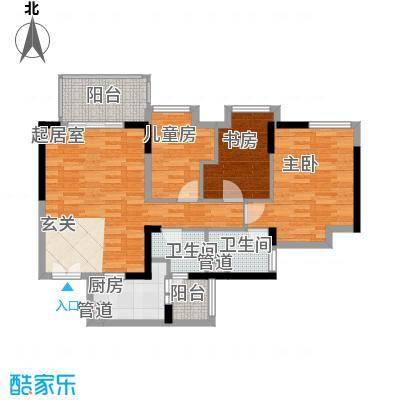 华凯豪庭105.14㎡华凯豪庭3室2厅户型3室2厅