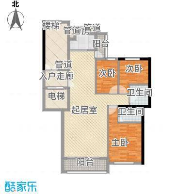 尊尚海的GOLF70.00㎡A户型2室2厅1卫1厨
