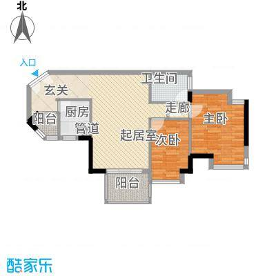 华凯豪庭86.59㎡华凯豪庭2室2厅户型2室2厅