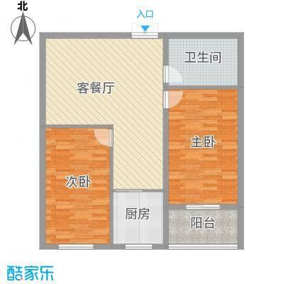 贵通润园105.00㎡c-C户型2室2厅1卫1厨