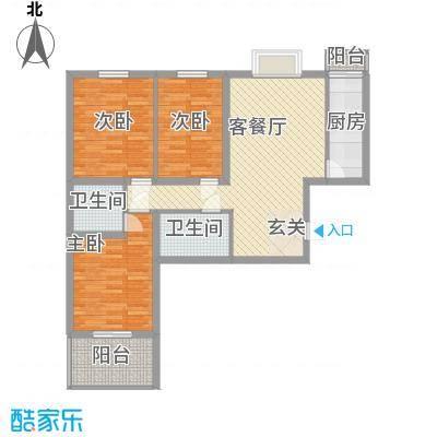 龙华・绿视界项目106.50㎡龙华・绿视界项目户型图C户型3室2厅1卫1厨户型3室2厅1卫1厨