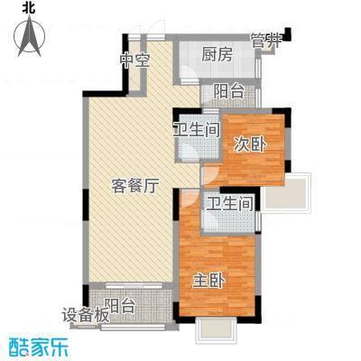 三正财富新地花园95.94㎡三正财富新地花园2室户型10室