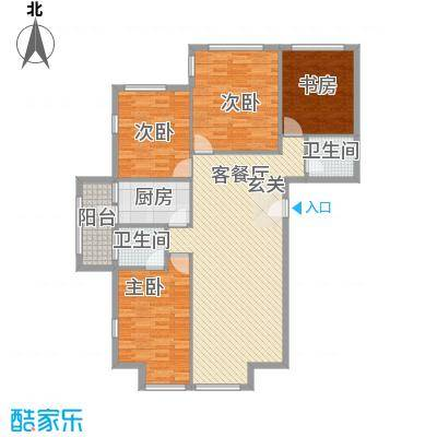 罗马花园罗马花园户型图四室两厅两卫149.684室2厅2卫1厨户型4室2厅2卫1厨
