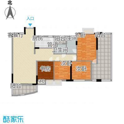江滨花园江滨花园4室户型4室