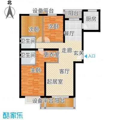 紫云轩140.26㎡紫云轩户型图B3户型3室2厅2卫1厨户型3室2厅2卫1厨