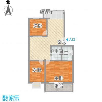 幸福苑117.78㎡幸福苑户型图三室两厅两卫117.78平米3室2厅2卫1厨户型3室2厅2卫1厨