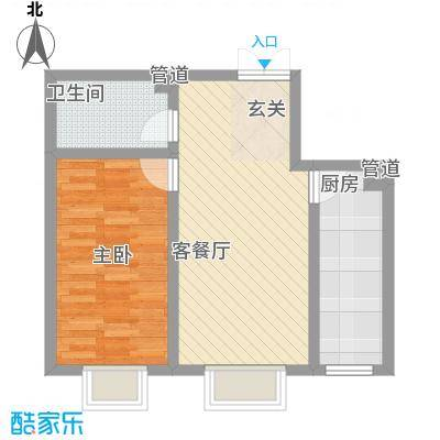 蓝山公馆项目66.07㎡蓝山公馆项目户型图九号楼B9户型户型10室