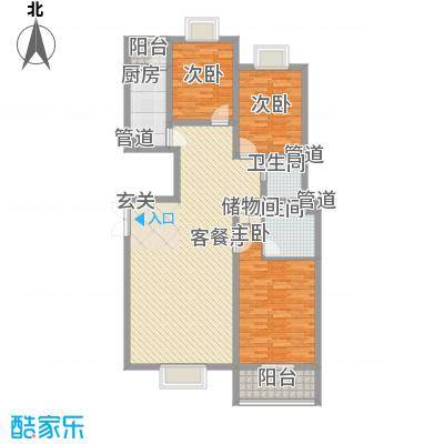 蓝山公馆项目142.32㎡蓝山公馆项目户型图五号楼D5户型3室2厅2卫户型3室2厅2卫