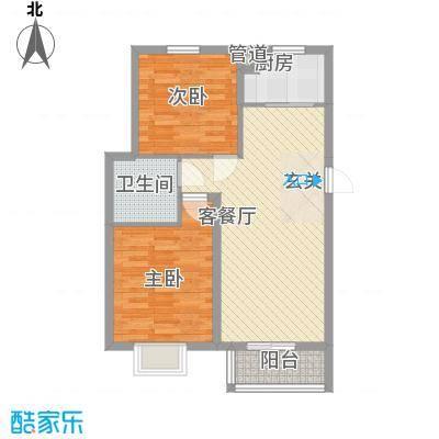 汇景豪庭84.10㎡汇景豪庭户型图B户型2室2厅1卫1厨户型2室2厅1卫1厨