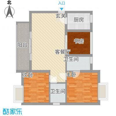 江湾国际95.00㎡江湾国际3室户型3室