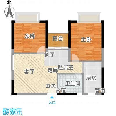 中惠丽阳时代68.00㎡中惠丽阳时代2室户型2室