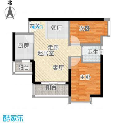 中惠丽阳时代63.10㎡中惠丽阳时代户型图2室2厅1卫户型10室