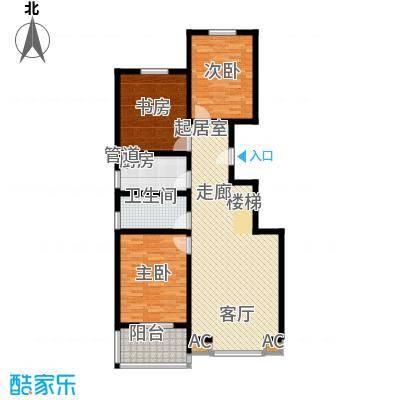 长风・香舍里项目户型图1#楼A1户型 2室2厅2卫1厨