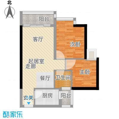 中惠丽阳时代66.12㎡中惠丽阳时代一期2室户型2室