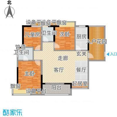 鼎峰花漫里户型图4栋标准层03户型(朝园林) 3室2厅2卫1厨