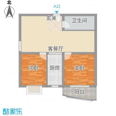 裕峰花园户型图C户型93.73平米在售 2室1厅1卫1厨