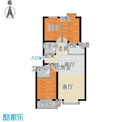 长风・香舍里项目户型图4#G户型 3室2厅2卫1厨