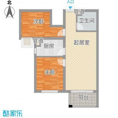 唐山万达广场户型图G5户型 2室2厅1卫1厨