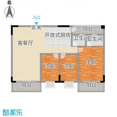 泓福大厦 4室 户型图