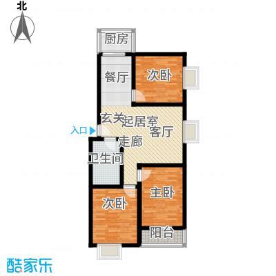 钢府逸居户型图G户型 2室2厅1卫1厨