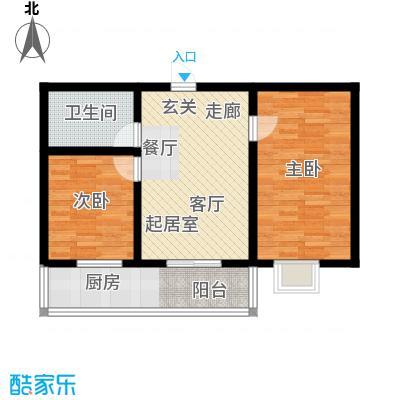 钢府逸居户型图k户型 2室21厅1卫1厨