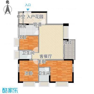 滨江花园112.57㎡滨江花园户型图8栋华铂风采1单元标准层02户型3室2厅2卫户型3室2厅2卫