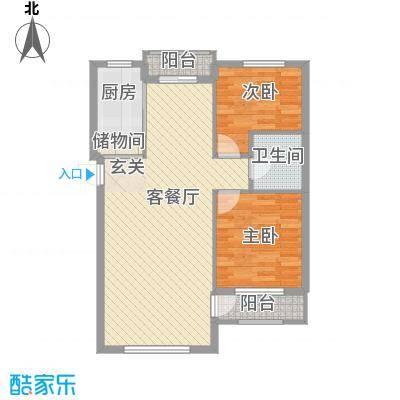 颐海听鸥91.40㎡颐海听鸥户型图2室2厅1卫1厨户型10室