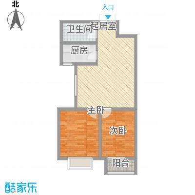 东铂城85.09㎡东铂城户型图b2户型2室2厅1卫户型2室2厅1卫