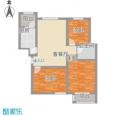 金域名邸105.00㎡金域名邸户型图G4户型3室2厅1卫1厨户型3室2厅1卫1厨