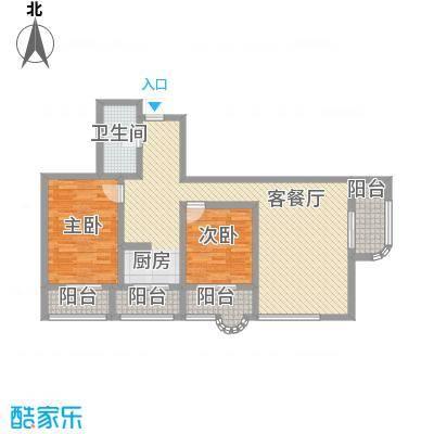 盛滨花园114.22㎡盛滨花园户型图2室2厅户型10室