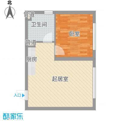 新青年汇51.69㎡1#楼1、3单元F户型1室1厅1卫1厨