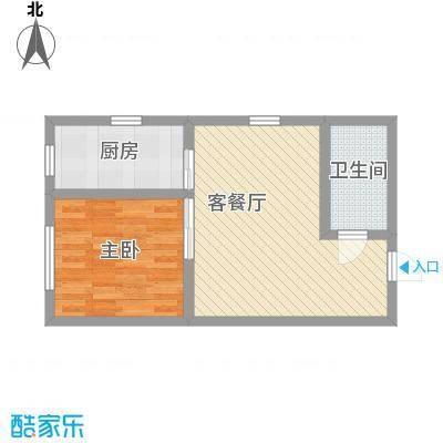 盛滨花园60.98㎡盛滨花园户型图1室2厅户型10室