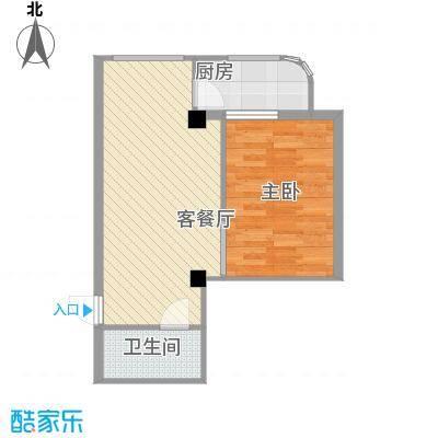 盛滨花园59.37㎡盛滨花园户型图1室2厅户型10室