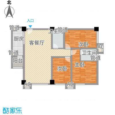富丽国际106.00㎡富丽国际户型图3-D2户型3室2厅2卫1厨户型3室2厅2卫1厨