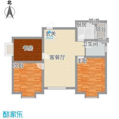 东城100(微笑城堡)106.70㎡东城100(微笑城堡)户型图户型C3室2厅1卫1厨户型3室2厅1卫1厨