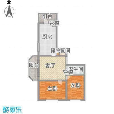 林海华庭75.00㎡3号楼1单元-2户型2室1厅1卫1厨