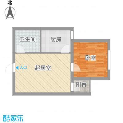 新青年汇56.39㎡1#楼1、3单元D2户型1室1厅1卫1厨