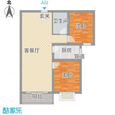 东润国际新城97.43㎡东润国际新城户型图26号楼2-022室2厅1卫1厨户型2室2厅1卫1厨