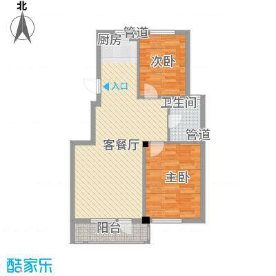 合美华庭85.00㎡合美华庭户型图4、10#楼户型2室2厅1卫1厨户型2室2厅1卫1厨