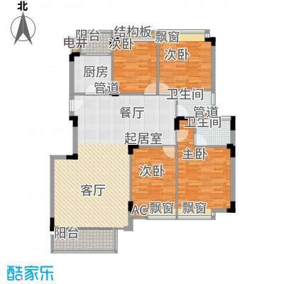 金丰花园133.00㎡金丰花园4室户型4室